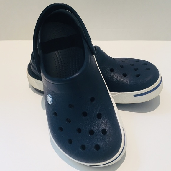 CROCS Other - Navy and white Crocs